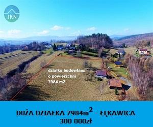Działki na sprzedaż Łękawica